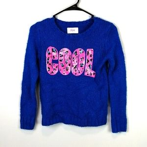 Justice Sequinned COOL Sweater Blue Size 10